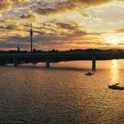 Alte Donau am Abend