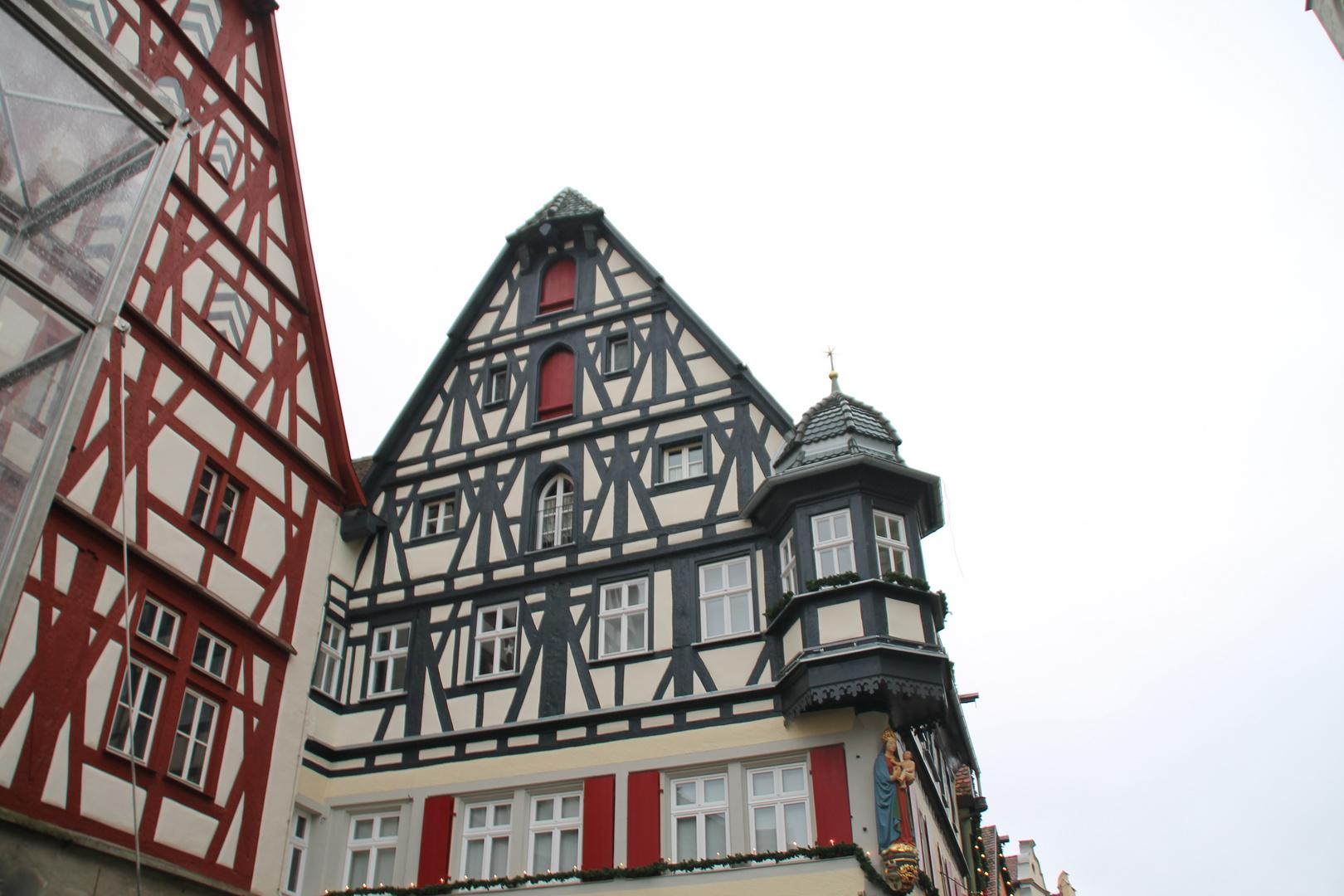Alte Fachwerkhäuser in Rothenburg o.d.Tauber