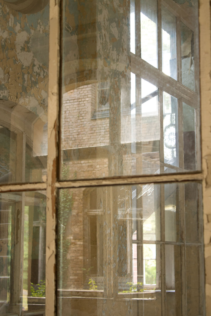Alte Fensterreihe
