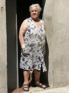 Alte Frau auf Malta