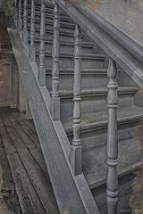 Alte Holztreppe