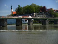 alte Inn Brücke in Schärding
