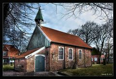 alte Inselkirche auf Spiekeroog