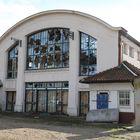 Alte Markthalle in Worms am alten Schlachthof.