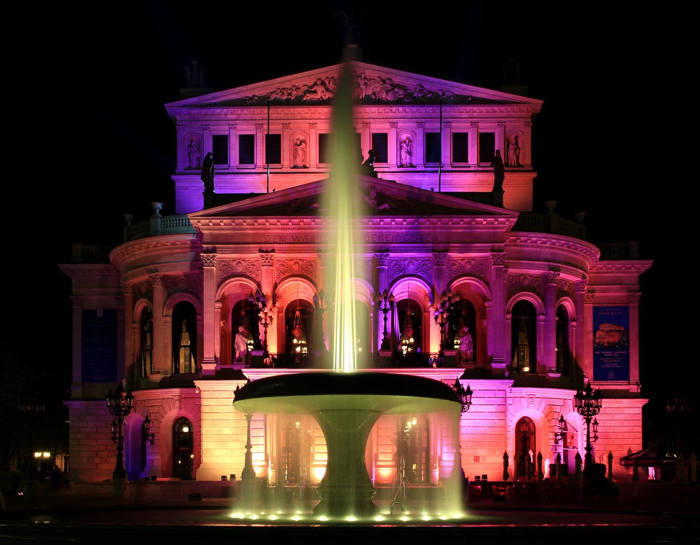 Alte Oper in Frankfurt zur Luminale 2012