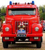 Alte Scania Feuerwehr von vorne
