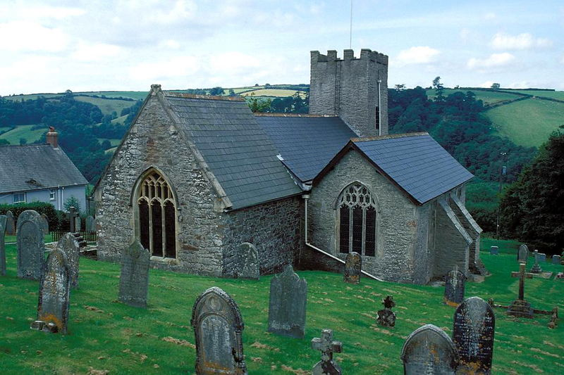 Alte Steinkirche im Exmoor