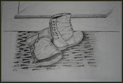 Alte Stiefel vor der Tür......