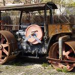 alte Straßenwalze