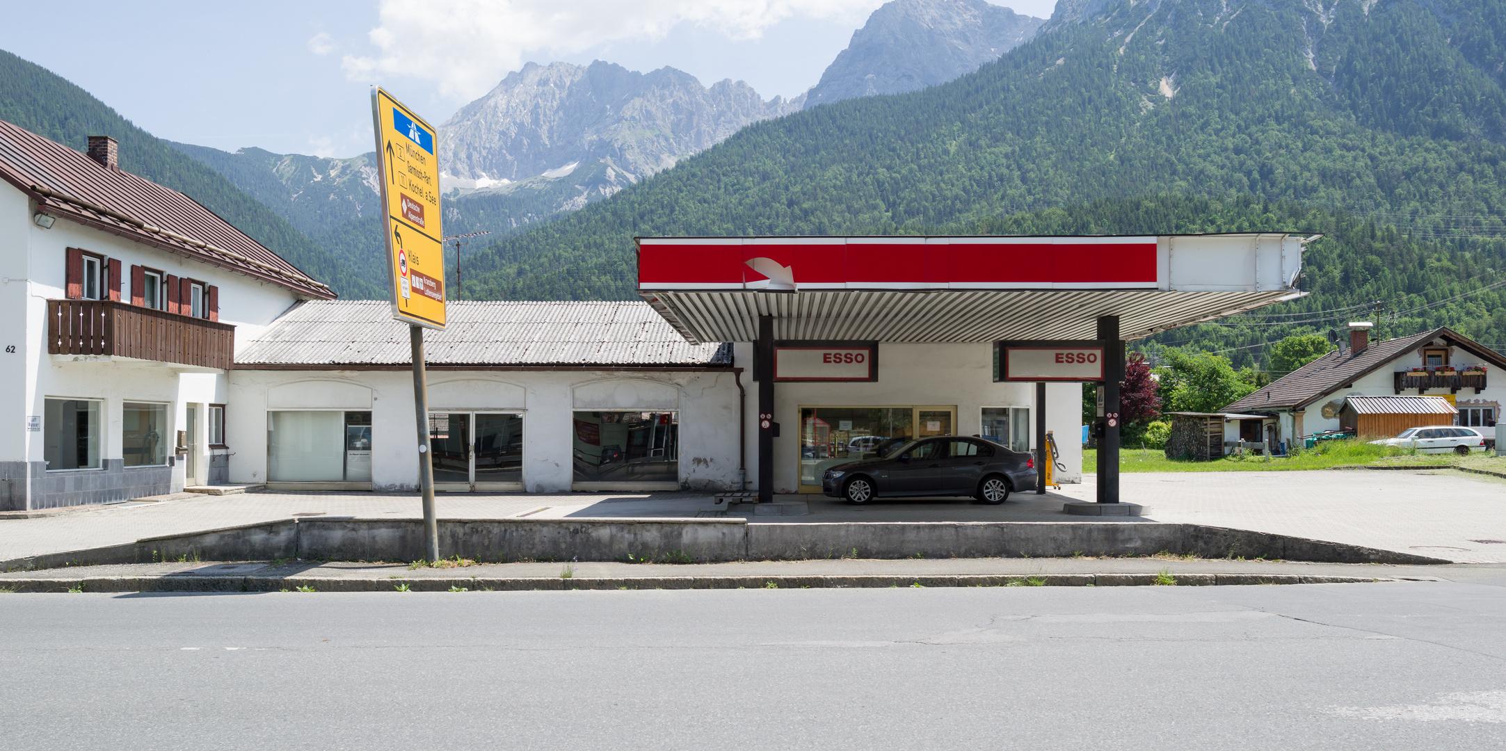 Alte Tankstelle in Mittenwald