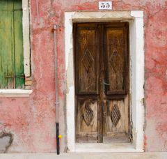 Alte Türe in Burano