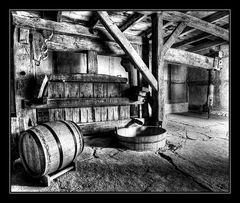 alte Weintraubenpresse