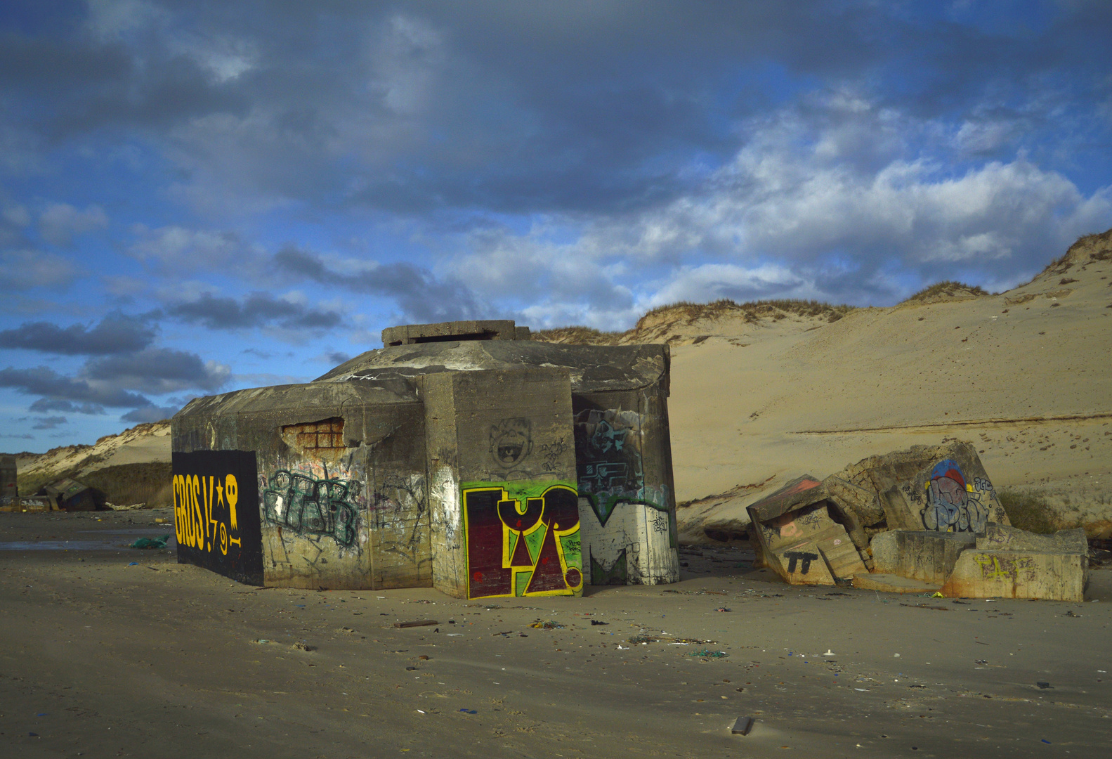 Alter Bunker am Plage du Pin Sec