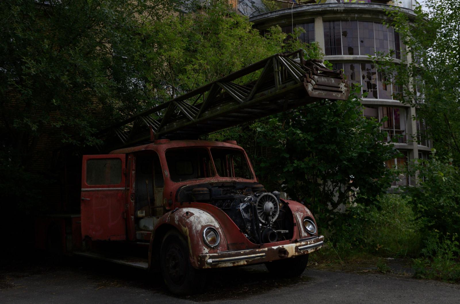 Alter Feuerwehrwagen Dolhain
