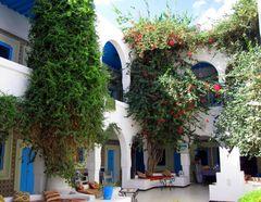 Alter Hotelinnenhof auf Djerba