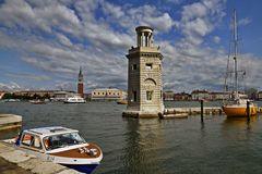 Alter Leuchtturm vor San Giorgio Maggiore