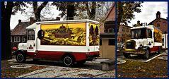Alter Lieferwagen einer Brauerei in Tychy ( Polen )