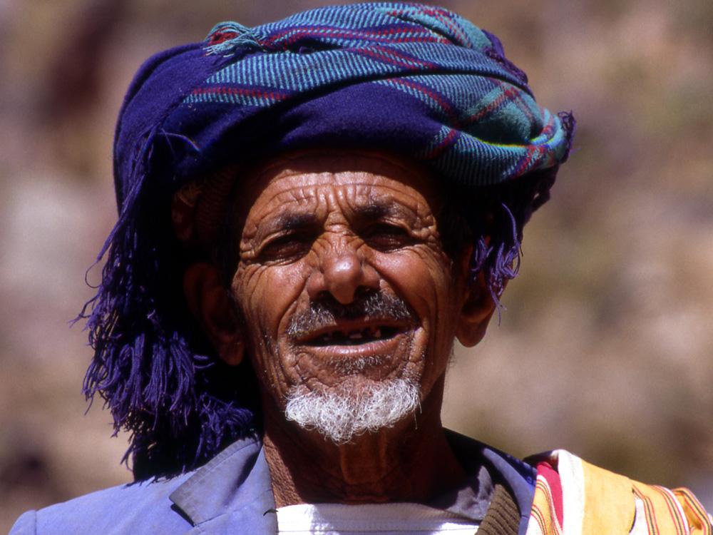 Alter Mann aus Kaukaban im jemenitischen Hochland