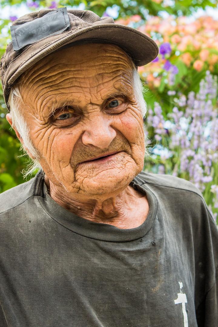Alter Mann in der Provence