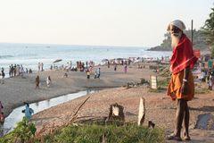 alter Mann Strand  Kerala +ReiseStory