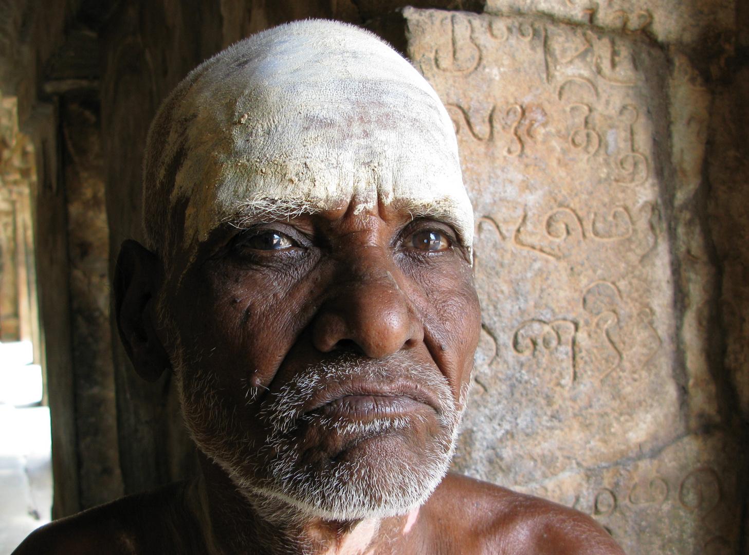 Alter Mann, Tanjore, Indien