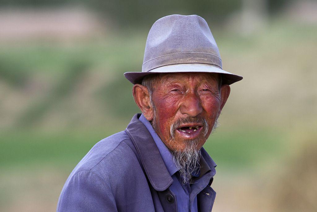 Alter Schafzüchter aus Gansu Provinz