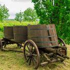 Alter Transportwagen für Most und Trauben