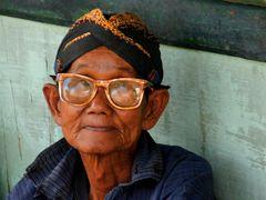 Alter Wächter des Kraton Tempels