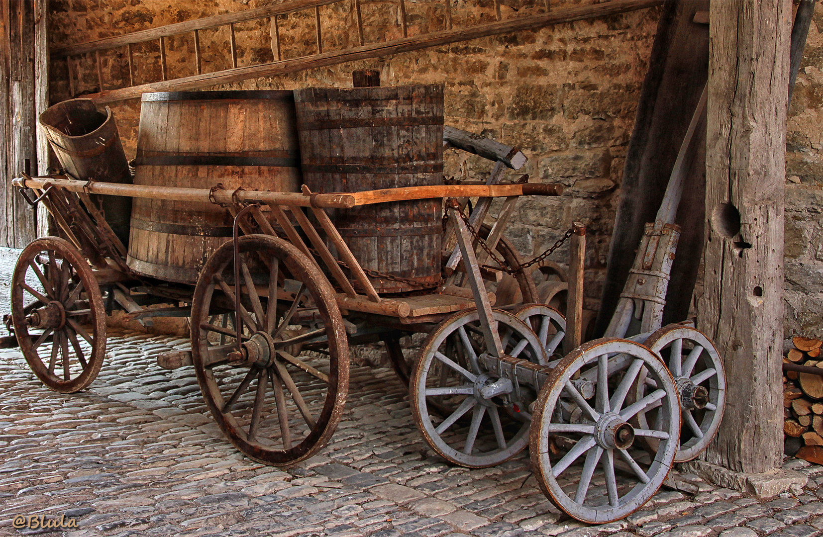 alter Weinbauernwagen