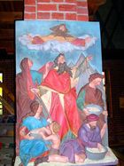 """ALtes Altarbild in der katholischen Kirche """"zum Heiligen Kreuz """" Waren"""