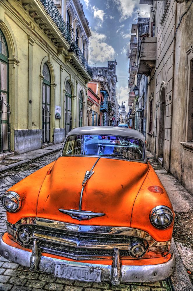 Altes Amerikanisches Auto In Havanna Kuba Foto Bild Autos