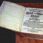 """altes Buch : """"Kunst- und Werckschul Anderer Theil"""" von 1707"""