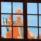 altes Fensterglas