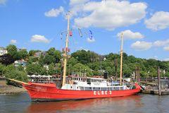 Altes Feuerschiff auf der Elbe