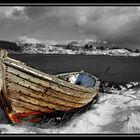 Altes Fischerboot in Norwegen