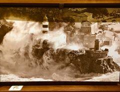 Altes Foto des ehemaligen Leuchtturms von Port de Sóller