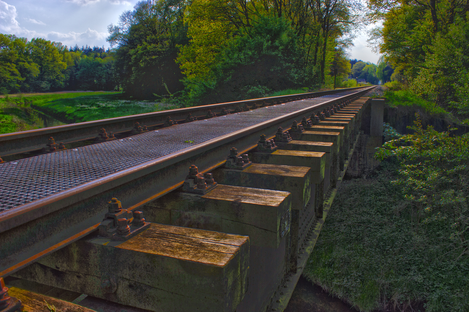 Altes Gleis in HDR