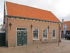 Altes Handwerksgebäude in Domburg, Provinz Zeeland (NL)