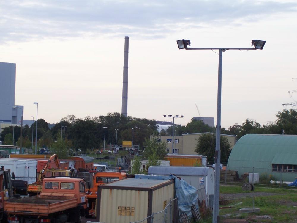 Altes Kraftwerk Lippendorf der 300m Schornstein