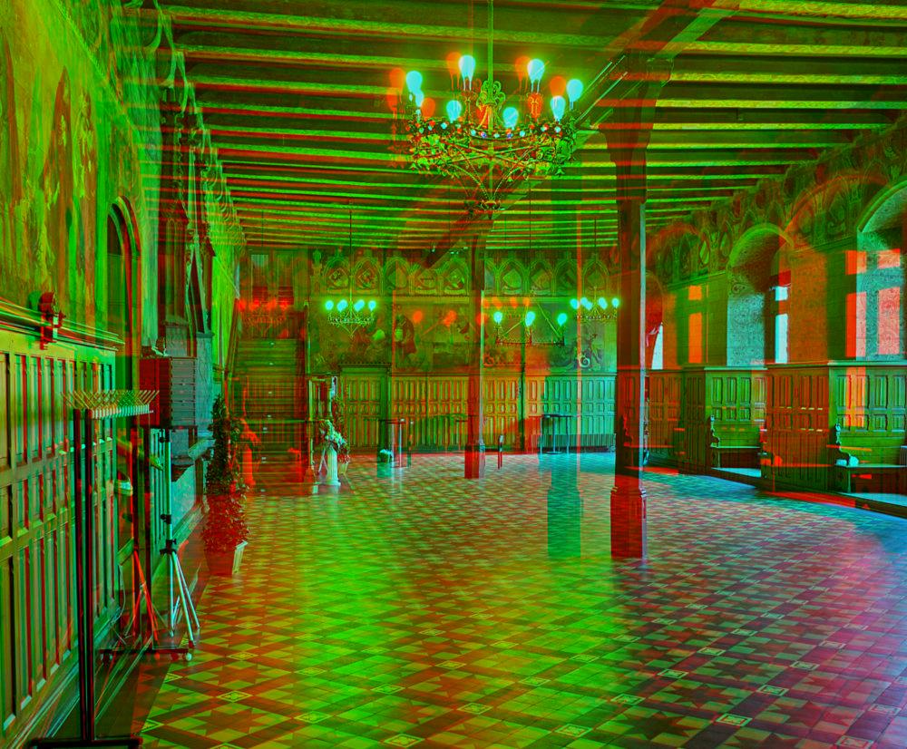 Altes Rathaus in Göttingen (3D für Rot/Cyan Brille)