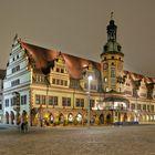 Altes Rathaus in Leipzig bei Nacht