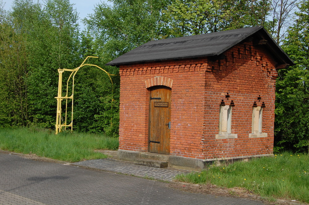 Altes Waggon Wiegehaus