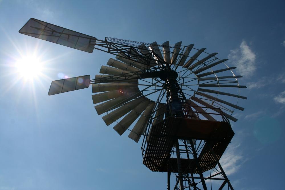 Altes Windschöpfwerk auf Rügen