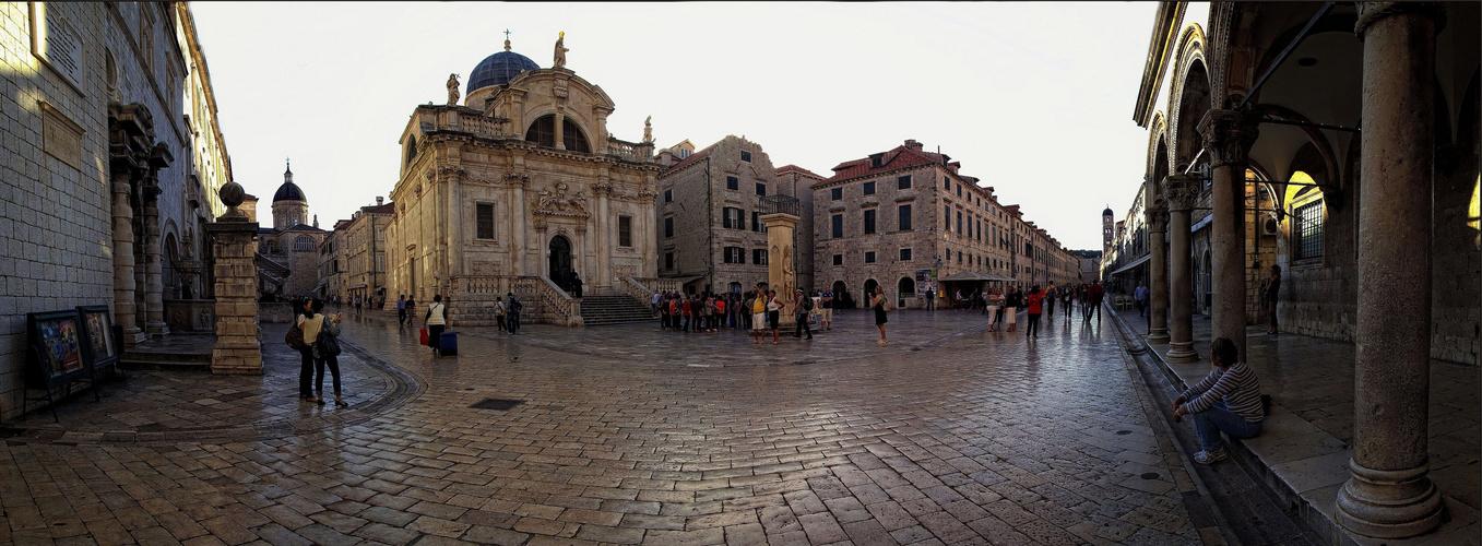 Altstadt Dubrovnik - Panorama aus vier Einzelbilder im Hochformat