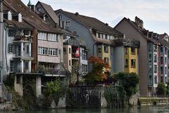 Altstadt Fassaden am Rhein