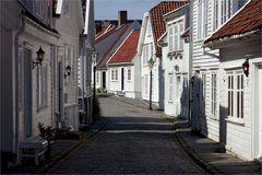 Altstadt von Stavanger, Norwegen