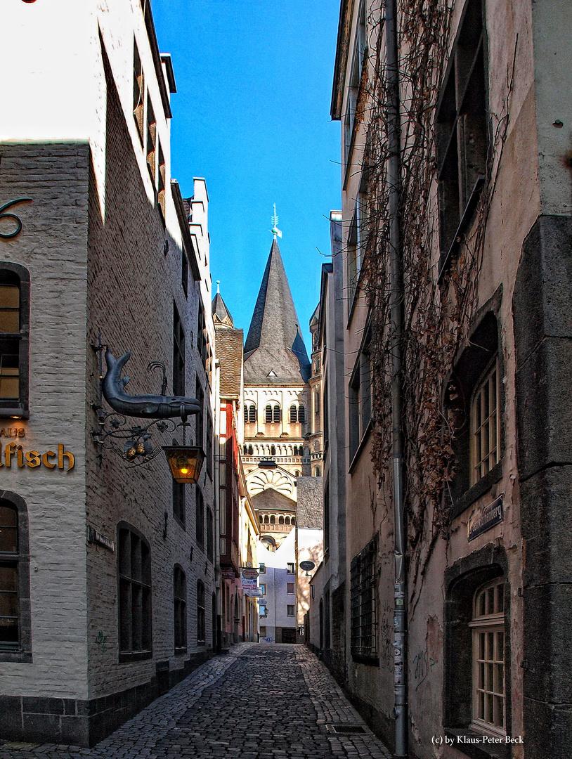 Altstadtgasse in Köln