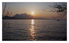 Am Abend am See