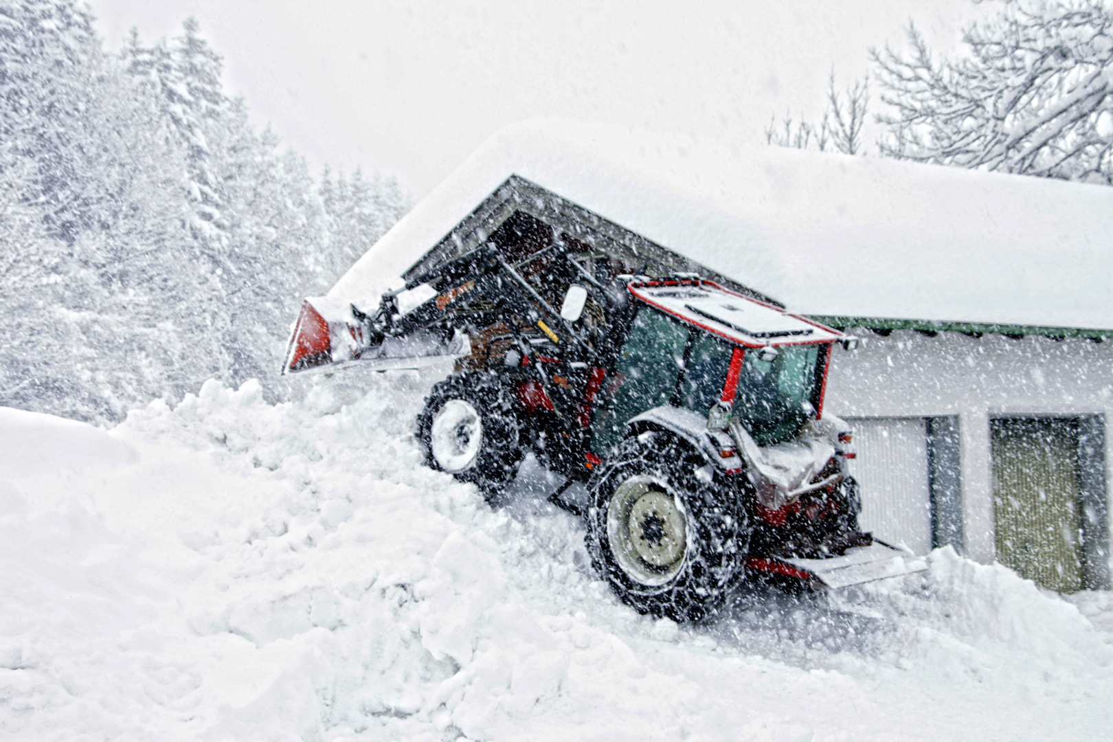 am Alpenrand leichter Schneefall möglich