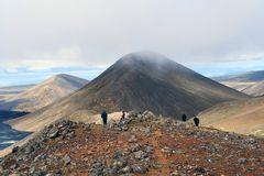 Am Aussichtspunkt zum Vulkanausbruch im Geldingadalur